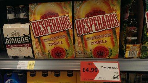 Desperados,  Morrisons was £4 NOW only £4.99! @ Morrisons