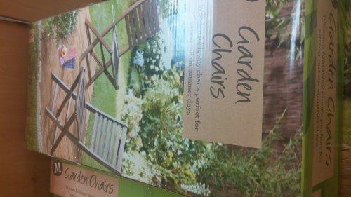 Morrisons Hardwood garden chairs £20 for 2
