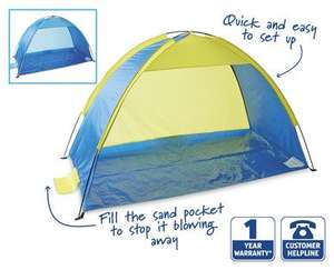 Beach Shelter with UV30 Sun Protection £8.99 at Aldi