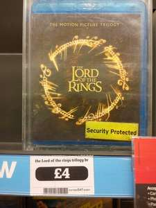 The Lord Of The Rings Trilogy Blu ray £4.00 in Sainsburys (Instore)