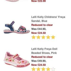 Lelli Kelly canvas and sandals all half price @ John Lewis