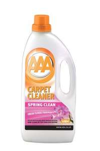 Vax AAA Spring Clean Carpet Cleaning Solution Shampoo 1.5 Litre Only £4.00 @ Amazon on add on items  over  £10.00
