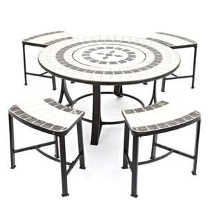 Fire pit/BBQ table plus chairs Was £500 now £289.99 eBay / trueshopping