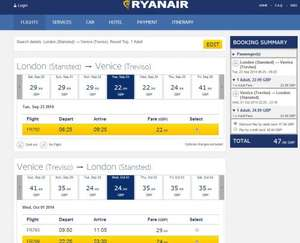 £48 Return Flights from London to Venice, Italy @ Ryanair