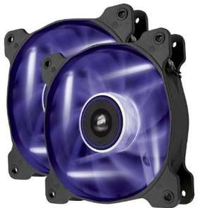 Corsair Air Series AF120-LED 120mm Quiet Edition High Airflow LED Fan - Purple (Dual Pack) £12 From amazon