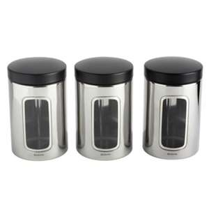 Brabantia Steel Storage Canisters Set of 3 £6.66 @ sainsburys **possible misprice**
