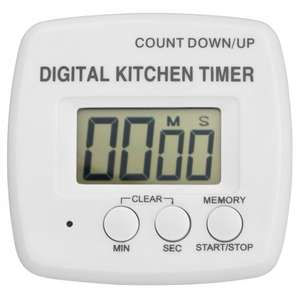 George Home Digital Kitchen Timer £1.20 @ Asda Direct **