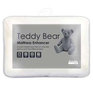 Teddy Bear Mattress Enhancer Single 50% off Now £9.99 Click & Collect @ Dunelm