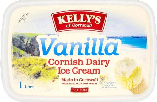 Kelly's Cornish Vanilla Dairy Ice Cream (1L) was £3.49 now £2.00 @ Tesco