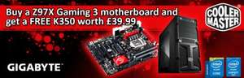 Gigabyte Z97X Gaming 3 Motherboard + FREE Coolermaster K350 Gaming Case £107.99 (£116.33 delivered) @ ARIA