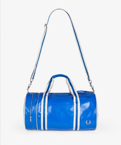 Fred Perry PVC Barrel Bag - Blue - FredPerry.com - £30.00