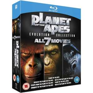 all planet of the apes films on bluray for £20 at sainsburys