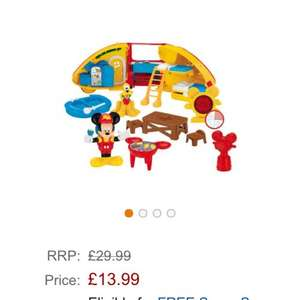 Mickey Mouse camper van £13.99 @ amazon (~Free delivery £10 spend / Prime / Locker)