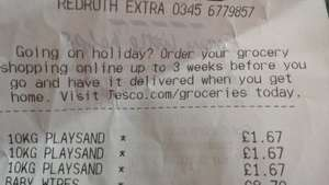 10kg play sand scanning £1.67 in store tesco