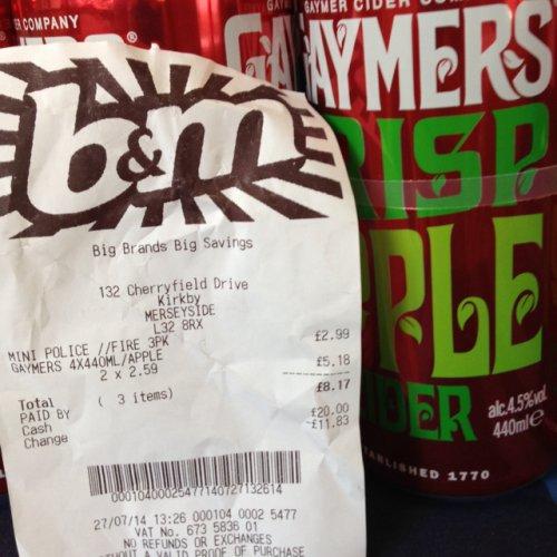Gaymers Apple Cider 4x440ml instore - £2.59 @ B&M