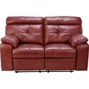 Two Seater Leather Recliner Sofa in Chestnut or Black. Half Price £308.94 Delivered from Argos
