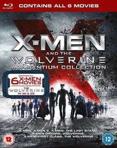 X-Men and the Wolverine Adamantium Collection - 6 Films (BLU-RAY) inc The Wolverine in 2D & 3D Blu-ray + Free UK Delivery @ HMV Shop - £14.99