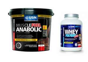 USN	Muscle Fuel Anabolic 4kg & FREE USN Whey Protein 908g - £56.39 with code  @Monster Supplements