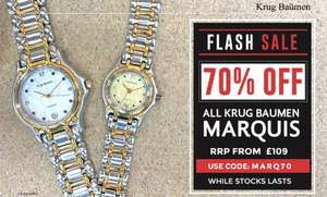 Krug Baumen Marquis up to 70% off flash sale @ watches2u