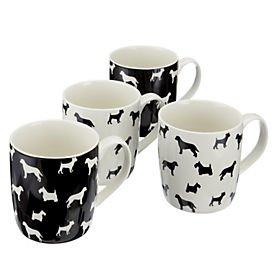 Sainsbury's Dog Silhouette Mugs, 4-pack £3.60 at Sainsburys
