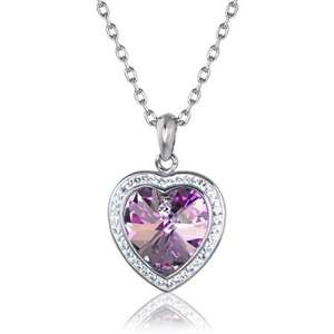 Sabrina Heart Necklace made with SWAROVSKI ELEMENTS @ Warren James