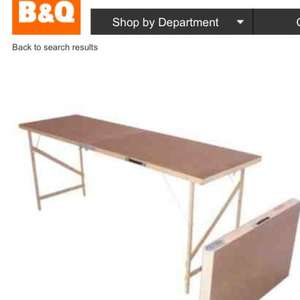 Folding table £10 at B & Q ideal for camping/car boot sales