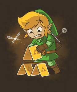 Exclusive Designs - Legend of ZELDA Triforce T-SHIRTS (Male / Female / Kids) - Deal ends 11pm Today - @ Qwertee - £10.50 each Delivered
