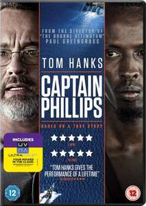 Captain Phillips DVD Includes UV Copy £6.30 @ Amazon Delivered or buy the Blu Ray for £9 (Free Delivery with Prime/£10 Spend)