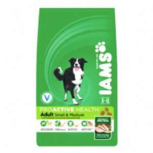 Iams adult dog food 12kg @ pet supermarket - £18.90