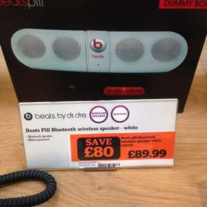 Beats by Dre Bluetooth pill speaker £89.99 reduced from £169.99 in sainsburys sunderland