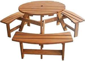 6 seater stained picnic bench at outdoor value 109.95 delivered @ Outdoor Value