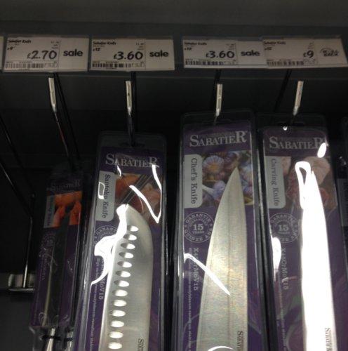 Sabatier Knives @ ASDA - Santoku £3.60