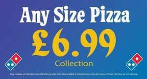Dominos - Caterham Store - £6.99 Any Pizza Any Size Collection Only
