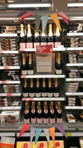 oudinot champagne 6 bottles for £90  in Marks & Spencer