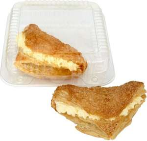 Bakery Fresh Cream Apple Turnovers or Raspberry Dairy Cream Turnovers (2) was £1.39 now 69p per pack of 2 @ Sainsbury's