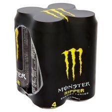 Monster Energy 4 pack *All Varieties* only £3 instore & online @ tesco