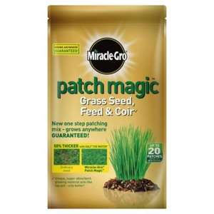 Miracle Gro Patch Magic 1.5kg bag was £13.50 ... now  £3.38 @ tesco direct