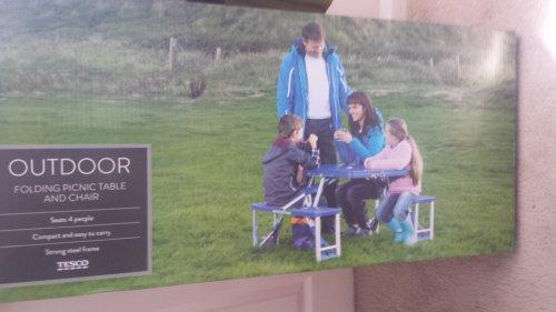 camping picnic table £15 @ tesco