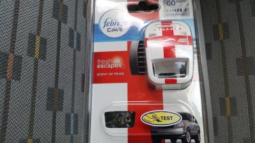 fabreze car air freshner. £1.25 tesco highwoods colchester.
