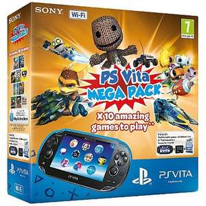 PS Vita Mega Pack - £130 @ ASDA Direct - inc 10 games and 8GB memory card