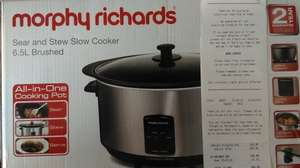Morphy Richards Sear and Stew Slow Cooker 6.5L (Don't know if it's national) £10.49 @ Sainsburys