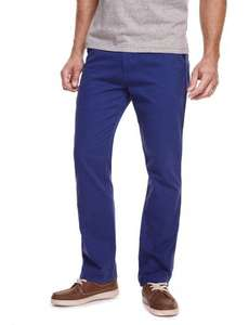 "M&S North Coast Slim Leg Pure Cotton Chinos, cobalt blue, waist sizes 34""/36"" £2.99"