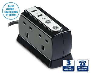 USB surge protected power block £9.99 at ALDI Thursday 7th Aug