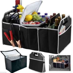Collapsible Car Boot Trunk Organiser & Insulated Cooler Cool Storage Bag Picnic @ eBay thinkprice - £6.99
