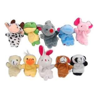 10 x Finger Puppets. Animal shape. 10 styles per set  £4.22 Dispatched from and sold by WELA at Amazon