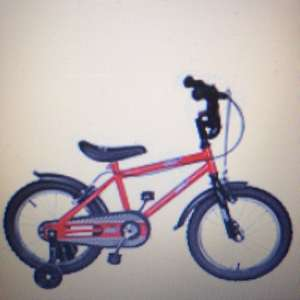 "Urban racer 16"" kids bike with stabilisers £14.00 @ Tesco direct"
