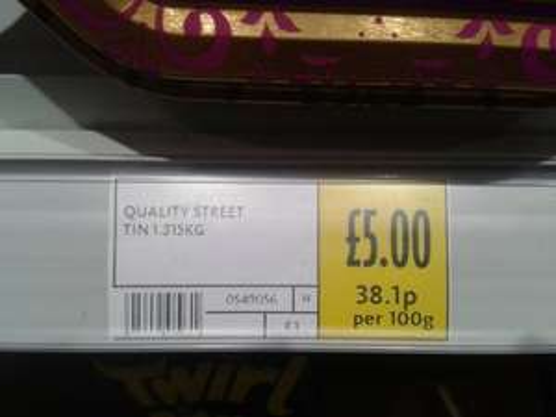 Quality Street Tin 1.315kg for £5 @ Morrisons