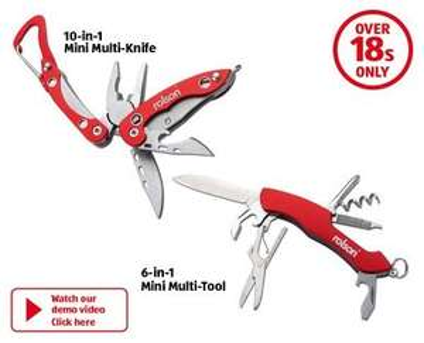 Rolson 2 Piece Mini Multi Tool £4 at Wilko