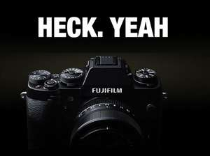 Various Fujifilm cashback deals. Including £200 on an X-E2 body, £200 on any two XF lenses, and £100 on an X-T1 body.