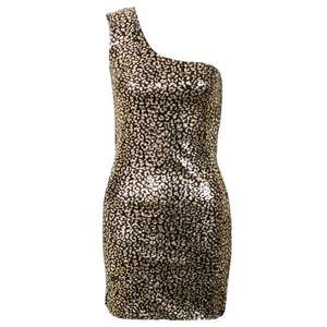 owntherunway.com - Black and Gold Cheetah Design One Shoulder Dress £0.01 from £26.99 (£2.99 Delivery) Size 8 Only. Other 1p items too and heels for a fiver!